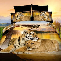 Tiger And Tigress Duvet Cover Bedding Set