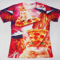 Funny Pizza Kitty T Shirt