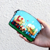 Graffiti Cat And Animals Coin Purse