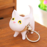 Multicolor Cute Cat Kitten Keychain