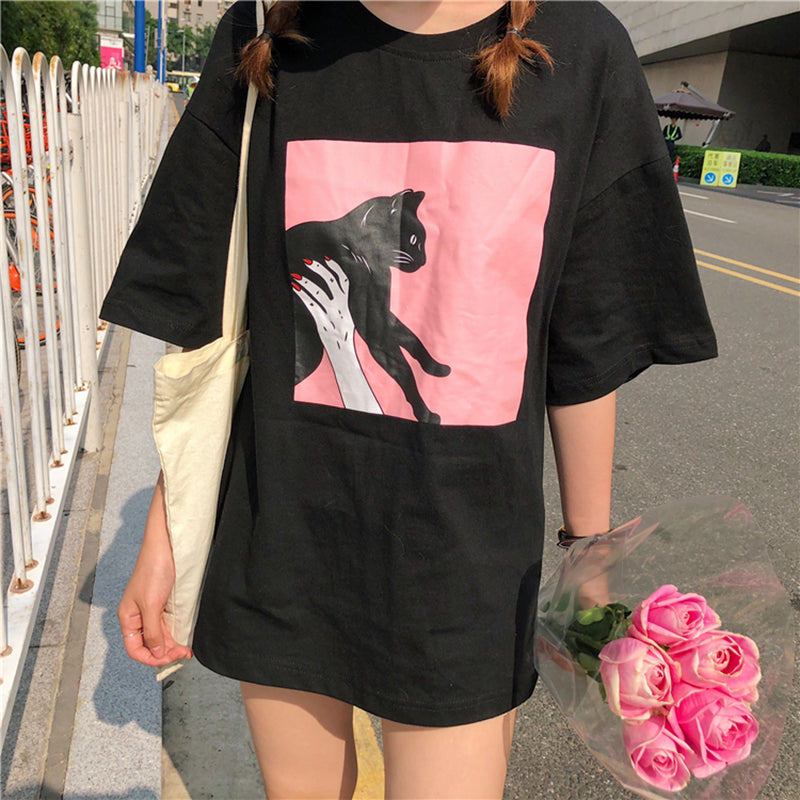 Women's Black Cat T Shirts