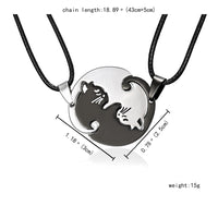 Yin Yang Couple Necklace