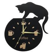 Cat Cartoon Wall Clock