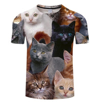 Multi - Cuteness Cat 3-D T Shirt