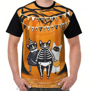The Halloween Cats Graphic T-Shirt