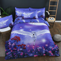 Tiger ,Elk ,Wolf And Unicorn Duvet Cover Set