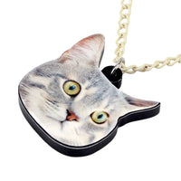 Acrylic Novelty Kitten Cat Necklace Pendant