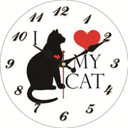 I Love My Cat Wall Clock