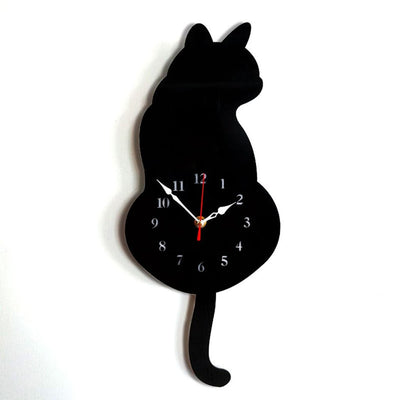 Wagging Tail Cat Wall Clock