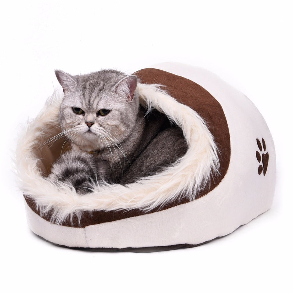 Remarkable Warm Paw Style Cat Cave Bed Pet Cat House Catloversparadise101 Home Interior And Landscaping Synyenasavecom