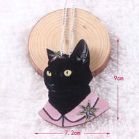 Enchanting Black Cat Necklace