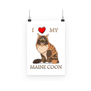I Love My Maine Coon Poster