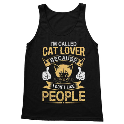 I'm Called Cat Lover Cause I Don't Like People Softstyle Tank Top