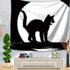 Black Cat Tapestry Wall Hanging Party Decor