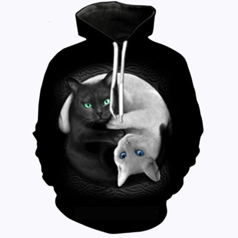 Black And White Swirl Hoodie