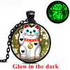 Lucky Cat Glow In The Dark Necklace