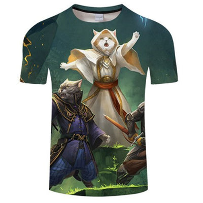 Almighty Gladiator Cat 3D T Shirt