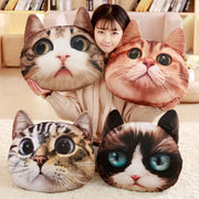 3-D Cat Shape Plush Pillows