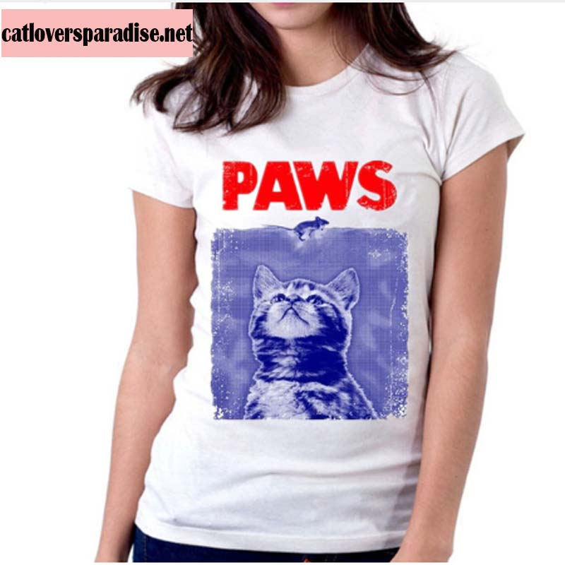 "Funny Cat ""Paws"" T Shirt"