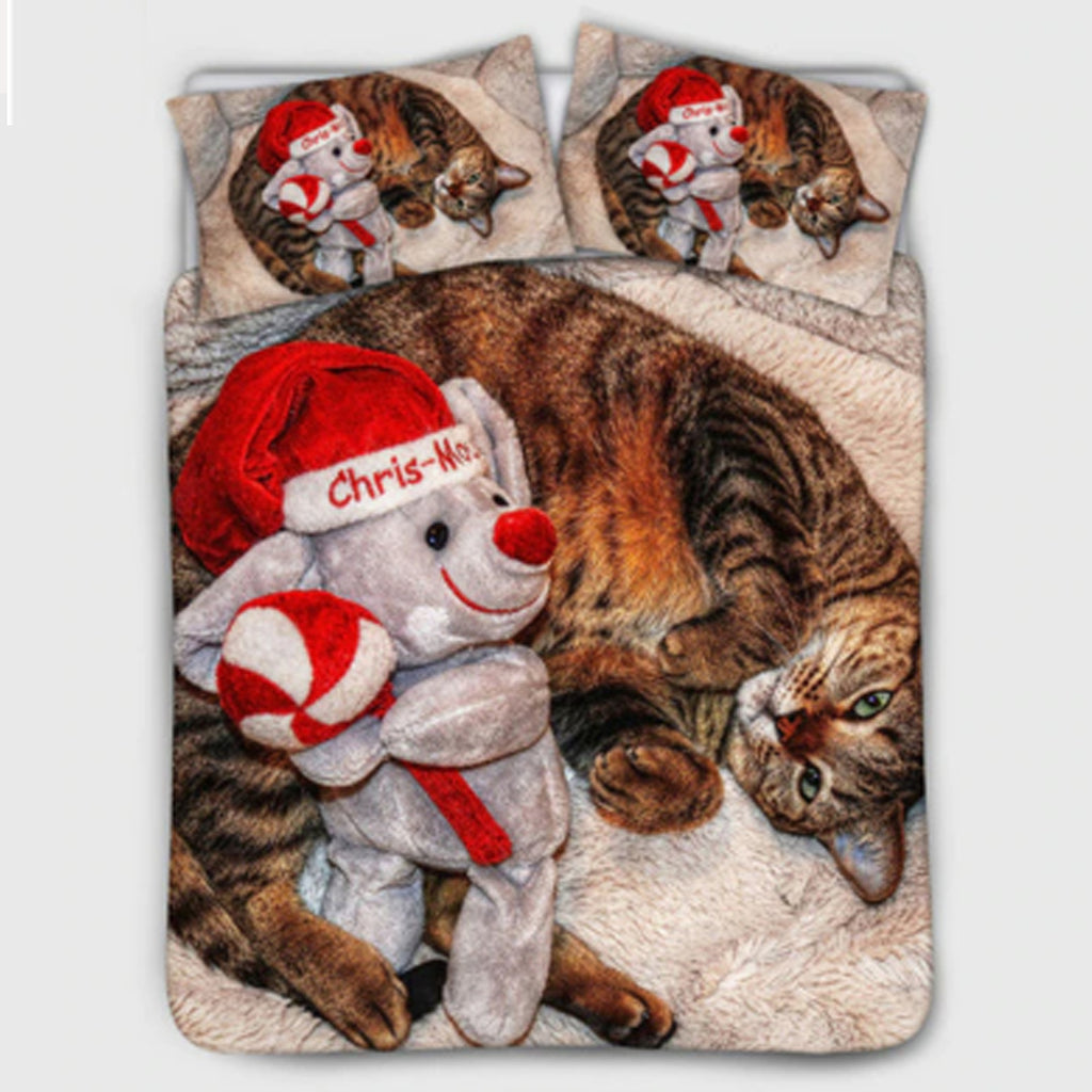 Christmas Collectible Cat Duvet Cover Set