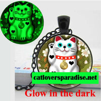 Glowing Lucky Cat Necklace