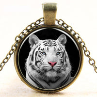 White Tiger Jewelry Necklace