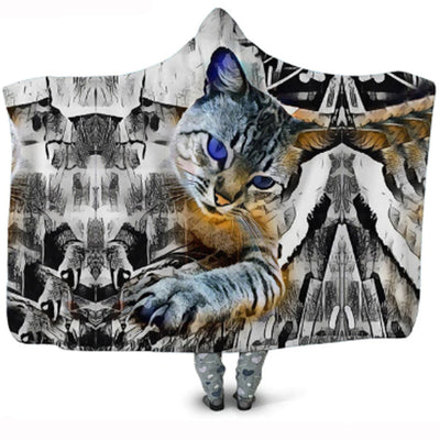 Beautiful Blue Eyed Bengal Cat Blanket