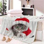 Collectible Cute Christmas Cat Blanket