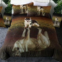 Husky Puppy /Wolf Reflection Duvet Cover Set