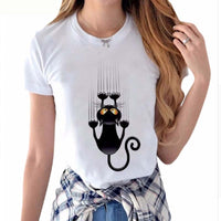 Naughty Funny Black Cat 3-D Lovely T Shirts