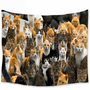 Multi Cat Cuteness Tapestry