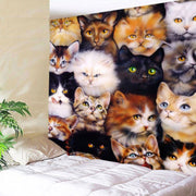 3-D Cute Cat Wall Hanging Tapestry