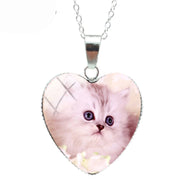 Innocent Eyes Cat Heart Necklace