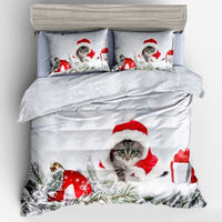Kitten Clause Christmas Duvet Cover Set