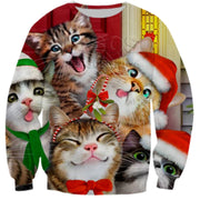 Limited Edition 3-D Cat Christmas Sweater