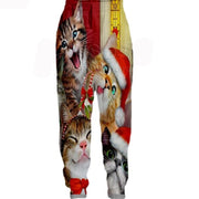 3-D Cat Christmas Leggings