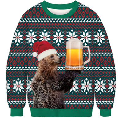 Beer Me Christmas Ugly Sweater
