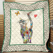 Cat Love Acrylic Quilt