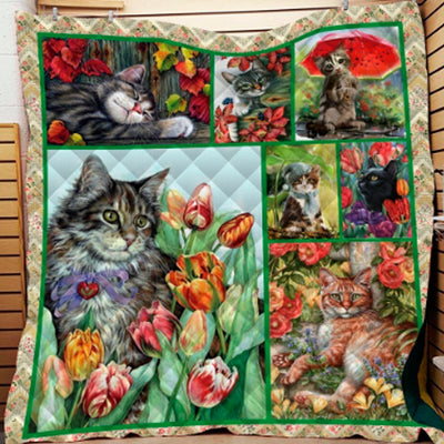 Beautiful Bliss Cat Quilt
