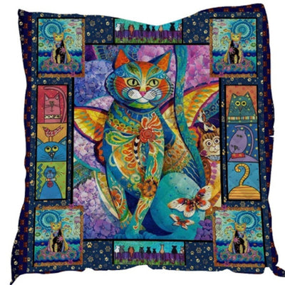 Exotic Acrylic Cat Quilt