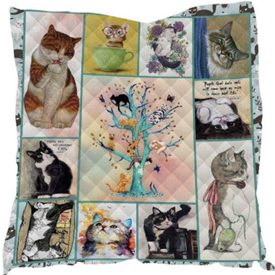 Multi Cuteness Cat Quilt