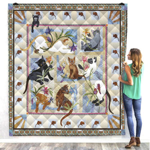 Multi Beauty Cat Quilt