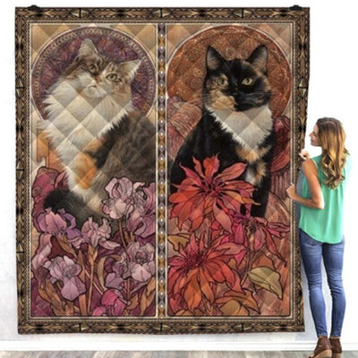 Beautiful Calico Cat Quilt