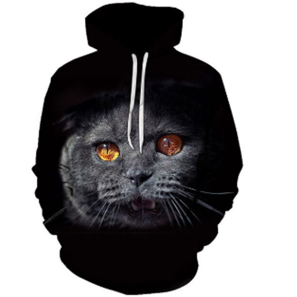 Golden Eyed Cuteness Cat 3-D Hoodie