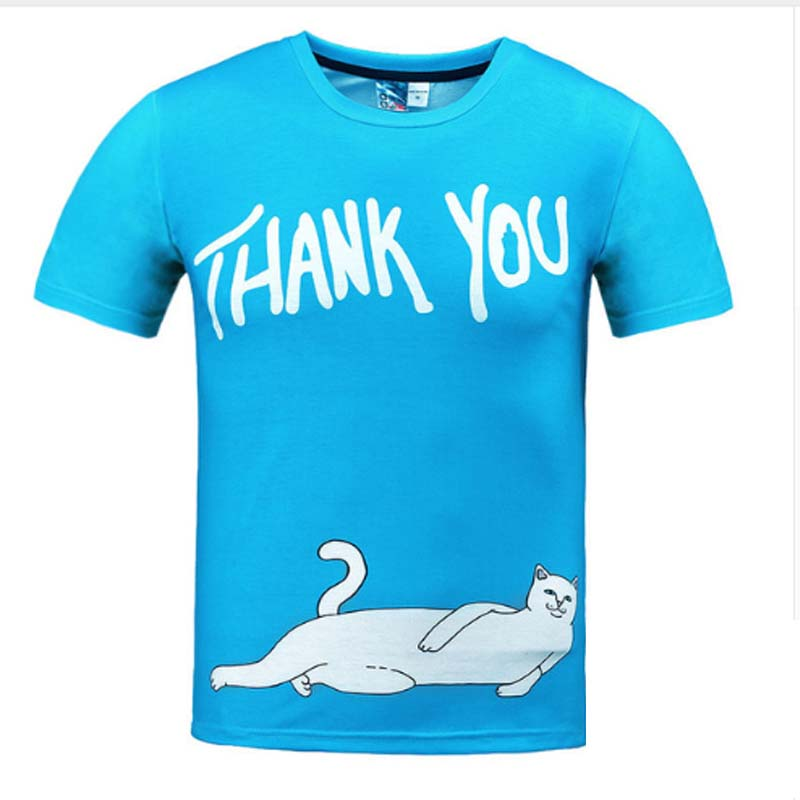 Well Fed Cat Thank You T Shirt