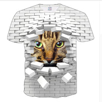 Brick Wall Breakout Cat T Shirt