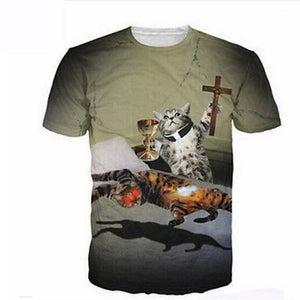 Cat Exorcist T Shirt