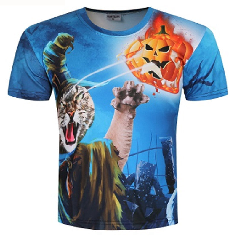 Witch Cat And Pumpkin T Shirt