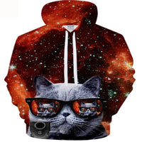 Stylin' Cat With Shades Hoodie