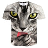Cute Cat Lick T Shirt